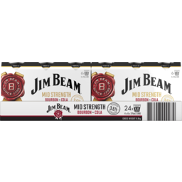 Photo of Jim Beam Mid Strength & Cola Can