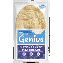 Photo of Genius Pitta Bread G/F 3pk 186g