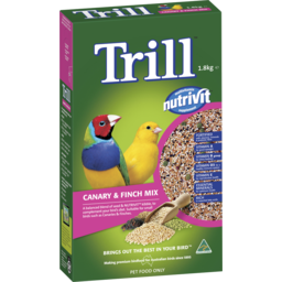 Photo of Trill Dry Bird Seed Canary & Finch Mix 1.8kg Box
