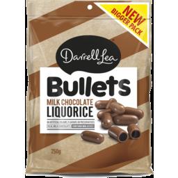 Photo of Darrell Lea Milk Chocolate Liquorice Bullets 250gm