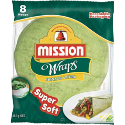 Photo of Mission Wraps Spinach Herb 8pk
