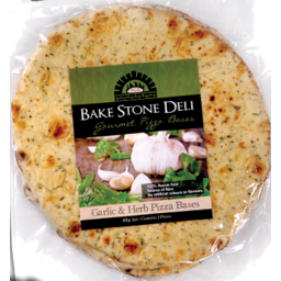 Photo of Bake Stone Pizza Base Garlic & Herb 3pk