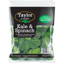 Photo of Taylors Farm Kale & Spinach Bag 120g