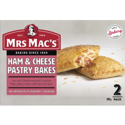 Photo of Mrs Macs Ham & Cheese Pastry Bakes 2 Pack 310g