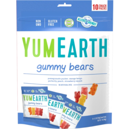 Photo of Yum Earth Gummy Bears - Snack Pack