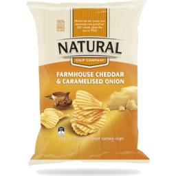 Photo of Natural Chip Company Cheddar Cheese & Caramelised Onion 175gm