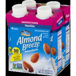 Photo of Blue Diamond Almonds Almond Breeze Almondmilk Unsweetened Vanilla - 4 Pk
