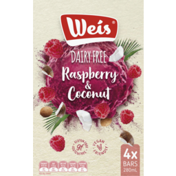Photo of Weis Ice Cream Raspberry & Coconut 4pk