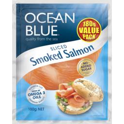 Photo of Ocean Blue Smoked Salmon 180g