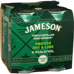 Photo of Jameson Dry & Lime Cans