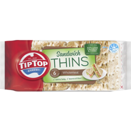 Photo of Tip Top® Sandwich Thins Wholemeal 6pk