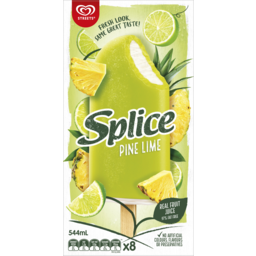 Photo of Streets Splice Pine Lime Ice Creams 8 Pack 544ml