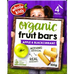 Photo of Whole Kids Bar Apple Blackcurrant 4pk