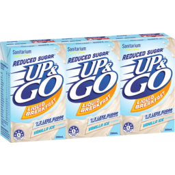 Photo of Up&Go Reduced Sugar Vanilla Ice 3x250ml
