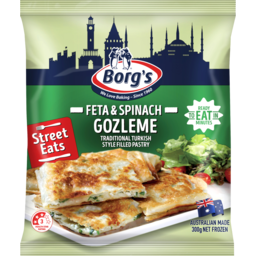 Photo of Borg's Feta & Spinach Gozleme 300g