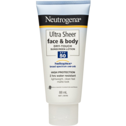 Photo of Neutrogena Ultra Sheer Face & Body Dry Touch Sunscreen Lotion Spf 50ml