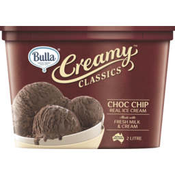 Photo of Bulla Premium Creamy Classics Rich Choc Chip 2