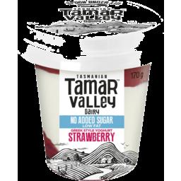 Photo of Tamar Valley Greek Style No Added Sugar Strawberry Yoghurt 170gm