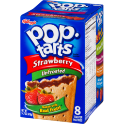 Photo of Kellogg's Pop-Tarts Strawberry Unfrosted Toaster Pastries - 8 Ct