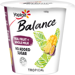 Photo of Yoplait Balance No Added Sugar Tropical Yoghurt 150g