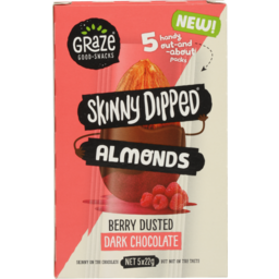 Photo of Graze Skinny Dipped Almonds Berry Dusted Dark Chocolate 5 Pack X 22g