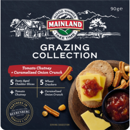 Photo of Mainland Grazing Collection Cheese Tomato Chutney & Caramelised Onion Crunch 90g