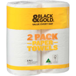 Photo of Black & Gold Paper Towels 2 Ply 100s Twin Pack
