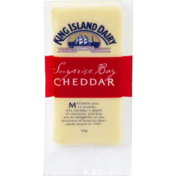 Photo of King Island Surprise Bay Cheddar Cheese 170gm