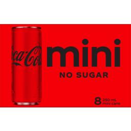 Photo of Coca Cola No Sugar 250ml 8pk