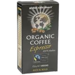Photo of Global Coffee Cafe Organic Espresso (250g)