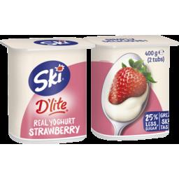 Photo of Ski D'lite Real Yoghurt Strawberry 2 Pack