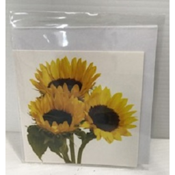 Photo of Small Gift Card with Envelope - Sunflowers