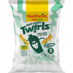 Photo of Healtheries Kidscare Vege Chips Chicken Twirls 8 Pack