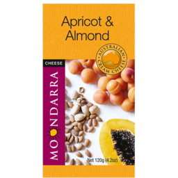 Photo of Moondarra Flavoured Cheese Apricot & Almond 120g