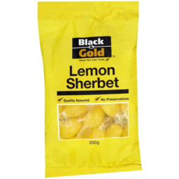 Photo of Black & Gold Lemon Sherbets 200g