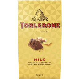 Photo of Toblerone Swiss Milk Chocolate With Honey And Almond Nougat Gift Box 240g