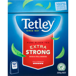 Photo of Tetley Tea Bags Extra Strong 100 Each
