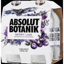 Photo of Absolut Botanik Berry Lime & Vodka Bottles