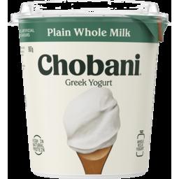 Photo of Chobani Plain Whole Milk Greek Yogurt 907g