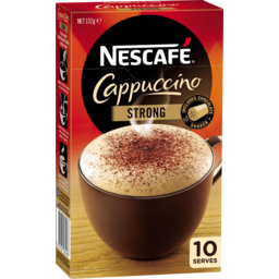 Photo of Nescafe Cappuccino Strong Coffee Sachets 10 Pack 132g