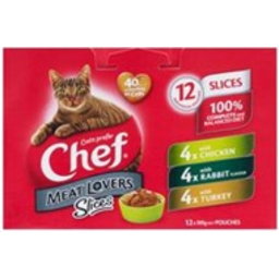 Photo of Chef Cat Food Pouch Variety White Meat Lover 12 Pack