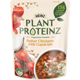 Photo of Heinz Plant Proteinz Butter Chickpea With Capsicum 330g