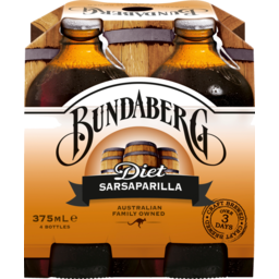 Photo of Bundaberg Diet Sarsaparilla 4x375ml Bottle
