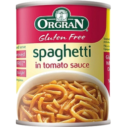 Photo of Orgran Spaghetti In Tomato Sauce 220g