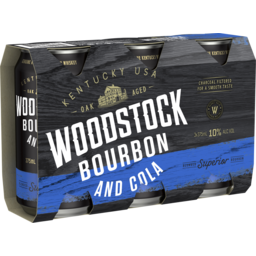 Photo of Woodstock Bourbon & Cola 10% Cans