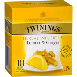 Photo of Twinings Lemon & Ginger Tea 10pk
