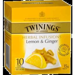 Photo of Twinings Lemon & Ginger 10 Pack Teabags