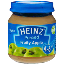 Photo of Heinz Purees Fruity Apple 4 To 6 Months 110gm
