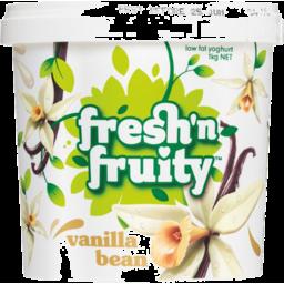 Photo of Fresh n Fruity Yoghurt Vanilla Bean 1kg