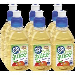 Photo of Pop Tops Fruit Juice Apple 6x250ml